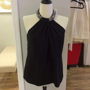 Black high neck blouse